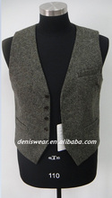 Mens wool single breasted waistcoat
