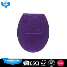ODM 18 inch bathroom purple glitter toilet seat