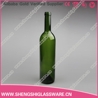 25oz colored red wine glass bottle with cork for sale