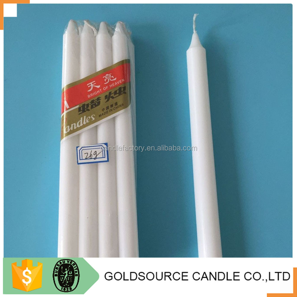Top sales 26g paraffin white stick plain home sense candles