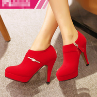 SAA4485 Red bridal shoes fashion latest high quality fancy ladies high heel shoes