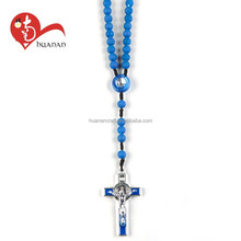 Wholesale china costum blue resin beads latest design necklace
