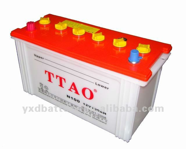 12v 100ah car dry battery