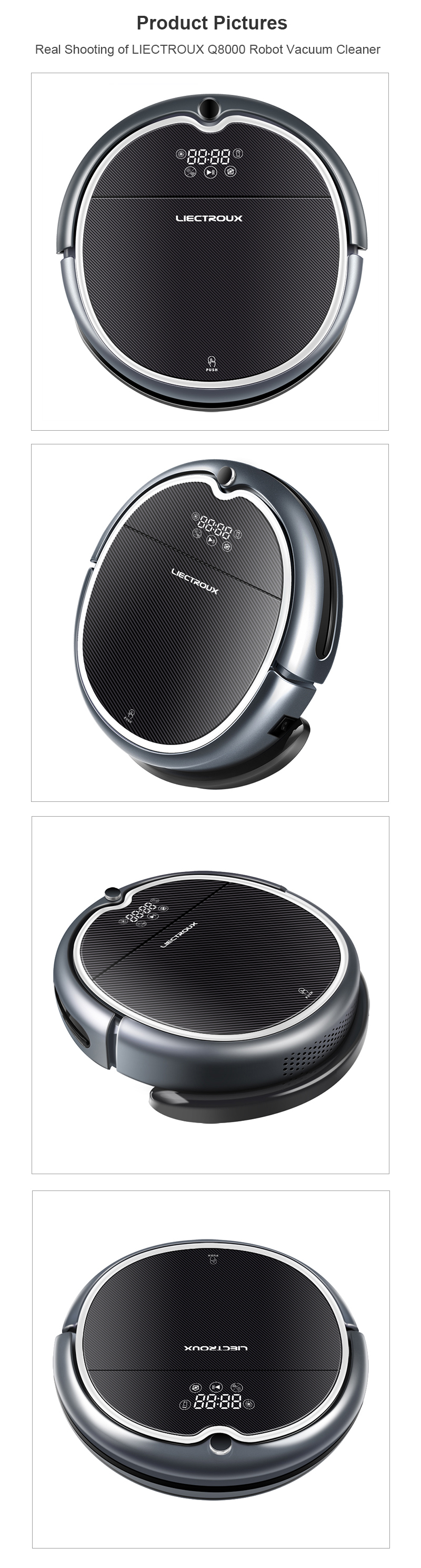 WIFI APP, 2D Map Navigation & Smart Memory Automatic Vacuum Cleaner Q8000