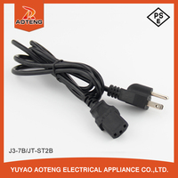 Japan 3 pin black vctf cable 3X0.75MM2 VCTF pse ac power cord