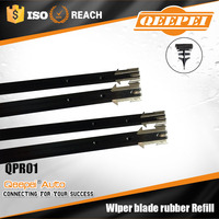 Hot selling car accessories wiper blade rubber strip fit for universal frame wiper blade rubber replacement