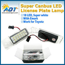Super Canbus Car LED License Plate Lamp for Toyota for Hiace Regiusace Vanguard Number Plate Light Auto Parts
