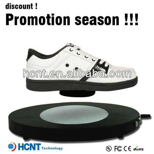 new invention ! magnetic levitating led display stand for shoe woman,sro shoes