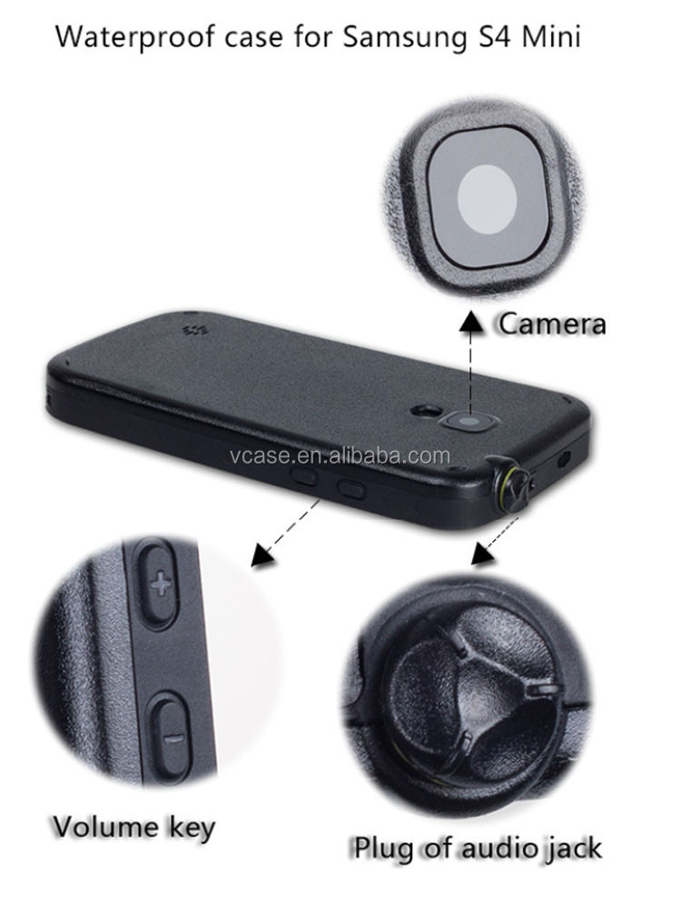 VCASE Wholesale 100% high quailty pc material waterproof cover case for samsung galaxy s4 zoom