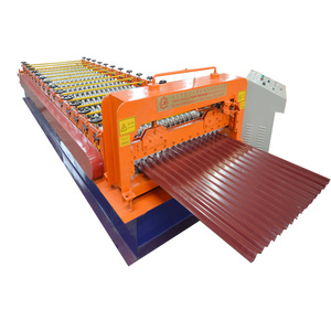 Terrazzo Tile Press Corrugated Manual Sheet Standing Seam Roof Panel Roll Forming Machine with Latest Technology