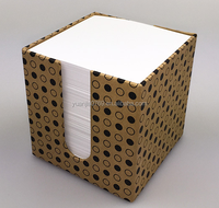 custom made memo pad in cardboard box
