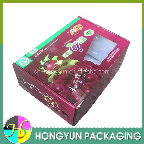 Wholesale corrugated fruit packing boxes with clear window
