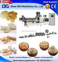 Automatic 3D oil fry pellet snacks machines corn snacks processing line from Jinan DG Machinery