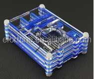 Wholesale !!! Raspberry Pi 2 Two Tone Case Clear + Blue