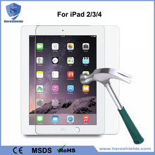Manufacturer 0.33mm Premium Tempered Glass Screen Protector For iPad Air 2 3 4, 9H Anti Broken Glass Protector/Film