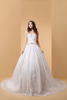 Timeless Elegant & Luxurious Simply Sublime Floor-length Sweetheart Tulle Wedding gown bridal dress P053
