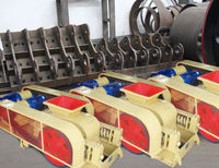 new type two roller crusher for wet stone coal crushing product line