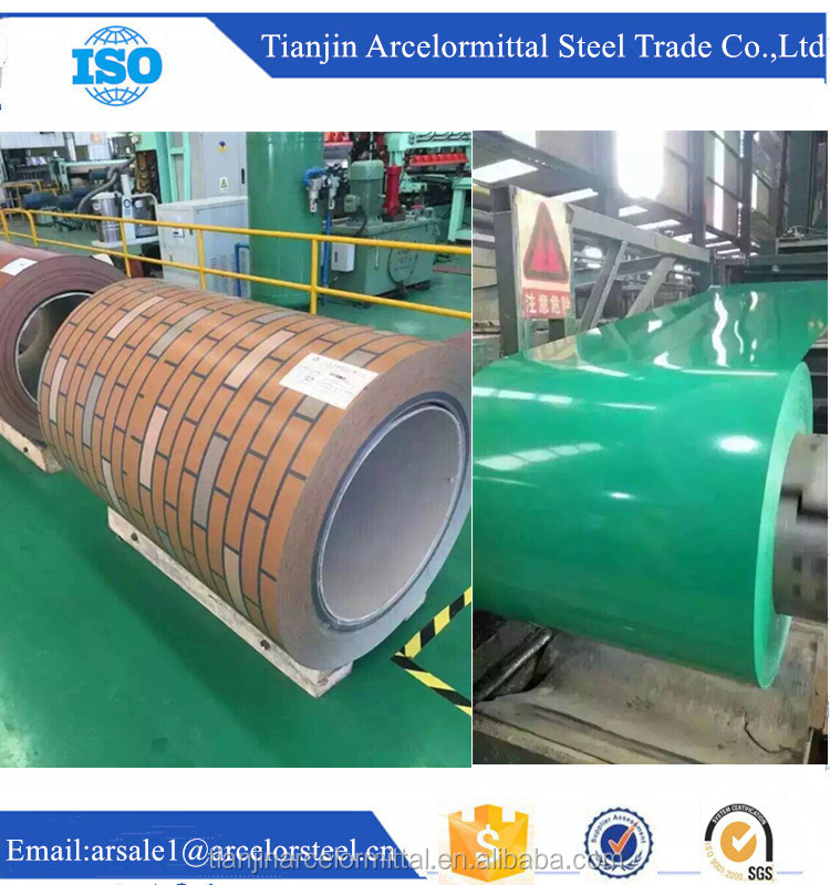 Trade Assurance Prime Wood Grain Color Coated Prepainted Galvanized Steel Coils