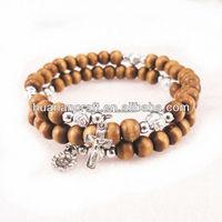 Huanan Christian Factory Sale Custom Design catholic wooden bracelets religious