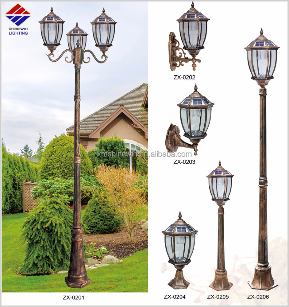 solar led outdoor street lighting solar garden light solar post light outdoor lamp in European style