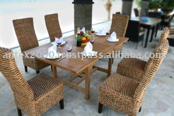 Teak Furniture Combined with Wicker Furniture