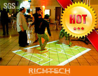 A perfect bar decoration to transform your floor into an exciting experience--- interactive floor system