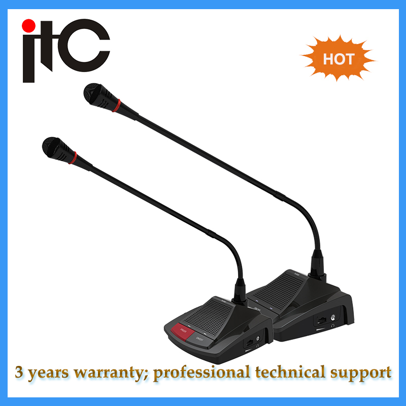 Discussion chairman conference microphone system for conference room
