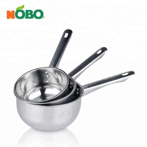 High quality long handle 14-18cm stainless steel water ladle soup ladle