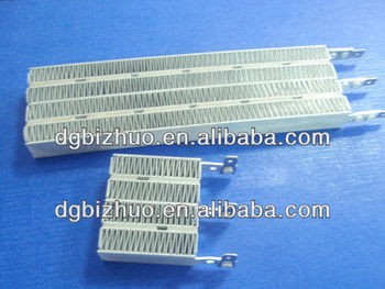 PTC electric heating element for hand drier