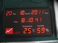 led flex display screen/100% Response Rate/BTI-C20110107B Calendar with Humidity And Temperature LED Display