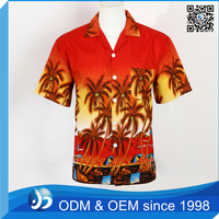 Customized Beach Wear Printed Hawaiian Aloha Shirts