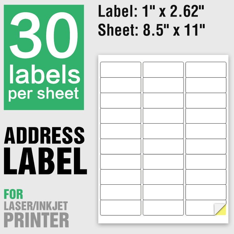 A4 letter size 8.5 x 11 self adhesive barcode stickers sheet shipping/mailing/address labels