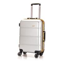new design abs pc trolley luggage /bag/cabin case abs luggage sets,Aluminum rod box