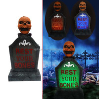 Halloween pumpkin tombstone led light for outdoor party decor