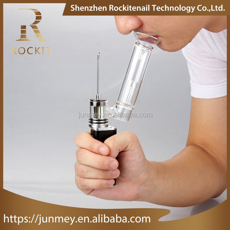 Alibaba china supplier newest electric cigarette wax oil vaporizer Rockit portable h-enail rockit h-enail wax dab rig