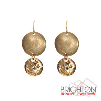 Dual Gold Drop Earrings Jewellery E1-34806-1920