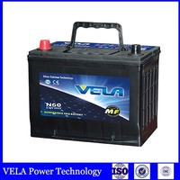 car battery wholesale N60 MF 12V 60AH auto battery car battery prices