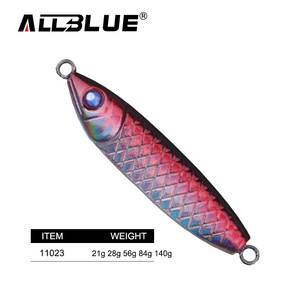 ALLBLUE Jigging Lure Hard Fishing Lure All Metal Spoon Jig Bait Fishing Tackle