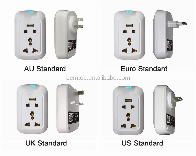 AU/EU/US/UK Outlet Wifi Remote Controlled Smart Plug Socket with USB Charging Port ,Support Power Metering