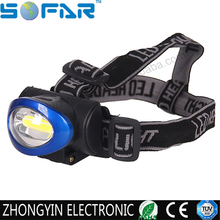 3 model plastic led headlamp 3W cob 200 lumens waterproof led headlamp