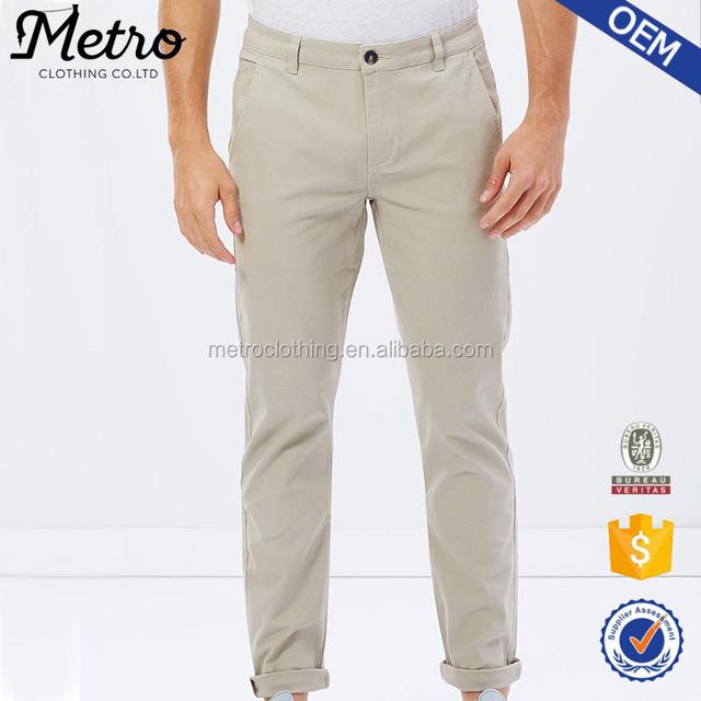 2017 Popular Latest Design Men's Causal Chino Pants