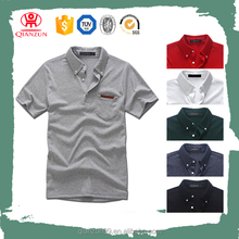 Custom high quality plain collar pocket men t-shirt for men