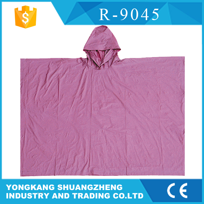 0.12mm 100%pvc plastic cute rain poncho for women