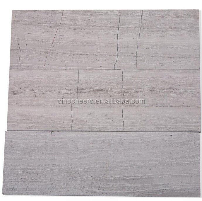 China Wooden Beige 4x12 Honed Marble Tile