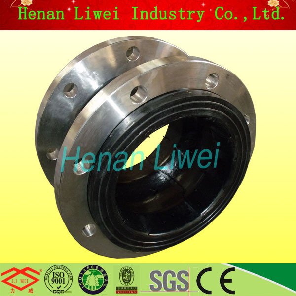 DN80(3 inch) Flexible Flange Connection Rubber Damper Pipe Expansion Joint