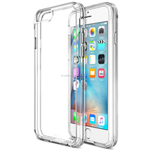 ultra thin transparent soft clear rubber case for i phone 6 plus, 6 s back cover