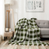 Luxurious Soft Throw swaddle cotton throw woven throw blanket
