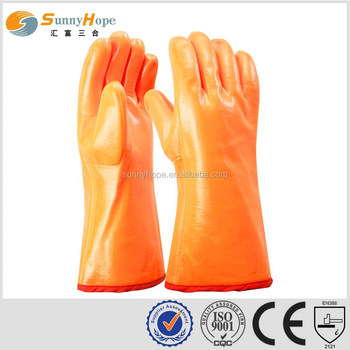 sunnyhope Fluorescent pvc rubber gloves