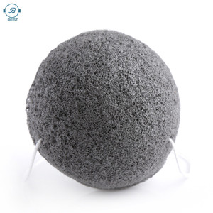 2020 Wholesale Skin Care Private Label 100% Natural Organic Konjac Facial Sponge Charcoal Pure Konjac Sponge