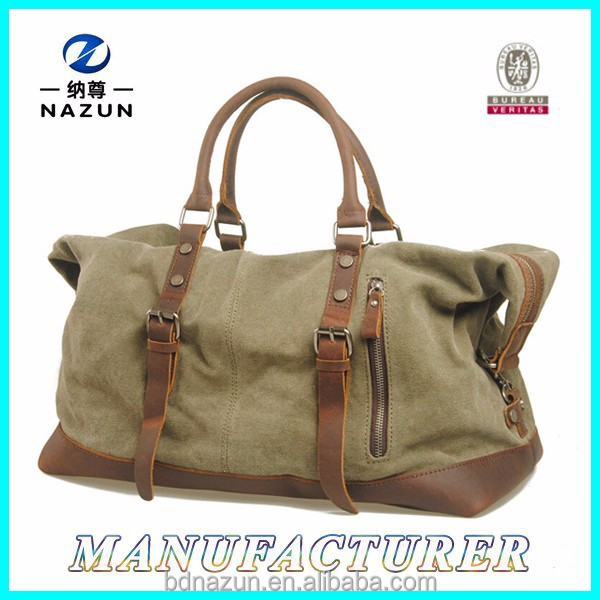 2015 Sports Leisure Men's Canvas Weekend Bags for Travel